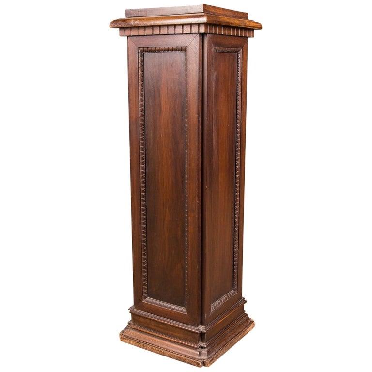 19th Century, Beautiful Antique Column Pedestal For Sale