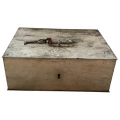 19th Century Belgian Iron Lock Box