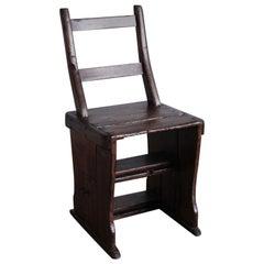 19th Century Belgian Metamorphic Library Step Chair