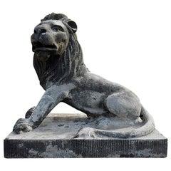 19th Century Belgian Sculpted Lion