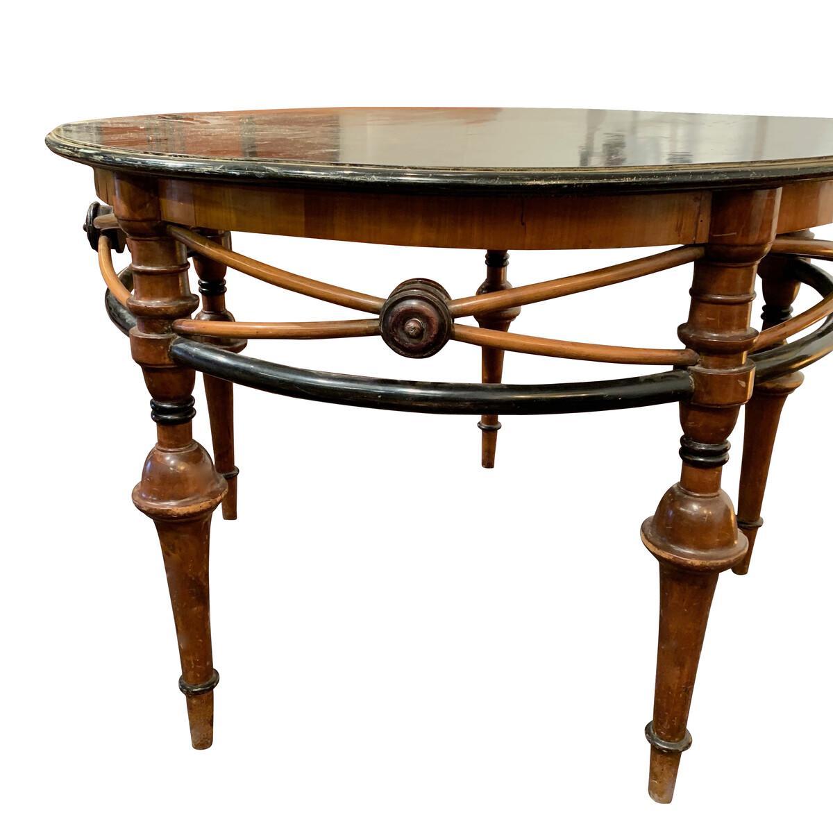 Etonnant 19th Century Belle Époque Center Hall Table, France