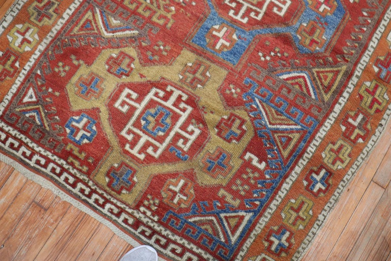 19th Century Bergama Turkish Rug In Good Condition For Sale In New York, NY