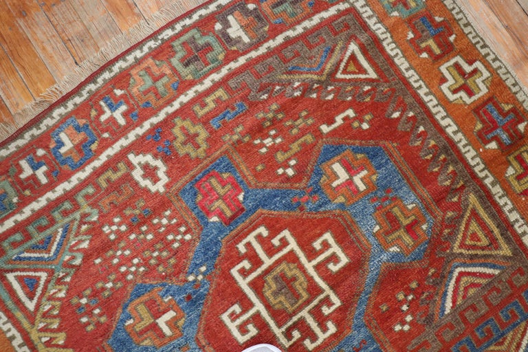 Wool 19th Century Bergama Turkish Rug For Sale