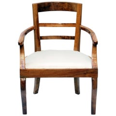 19th Century Biedermeier Armchair Solid Walnut