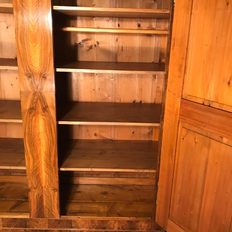 19th Century Biedermeier Armoire In Good Condition For Sale In Belmont, MA