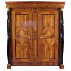 19th Century Biedermeier Armoire, walnut