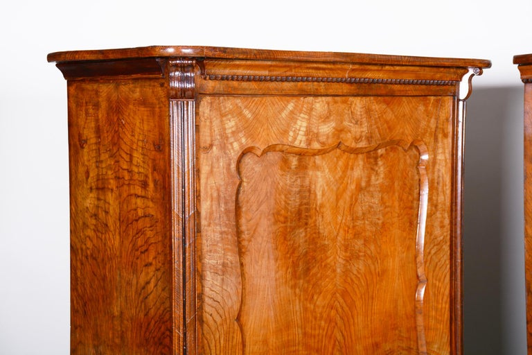 19th Century Biedermeier Ash Pair of Wardrobes, Completely Restored, 1840s For Sale 2