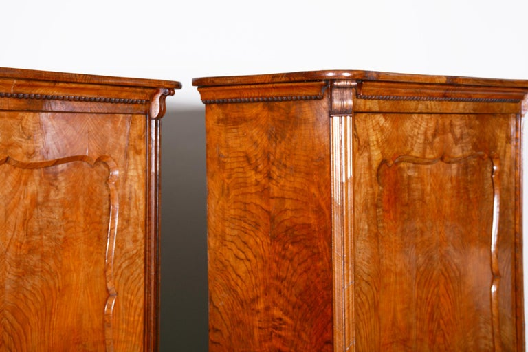 19th Century Biedermeier Ash Pair of Wardrobes, Completely Restored, 1840s For Sale 4