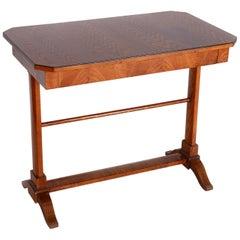 19th Century Biedermeier Ash Small Table, 1840-1849, Austria - Wien, Shellac