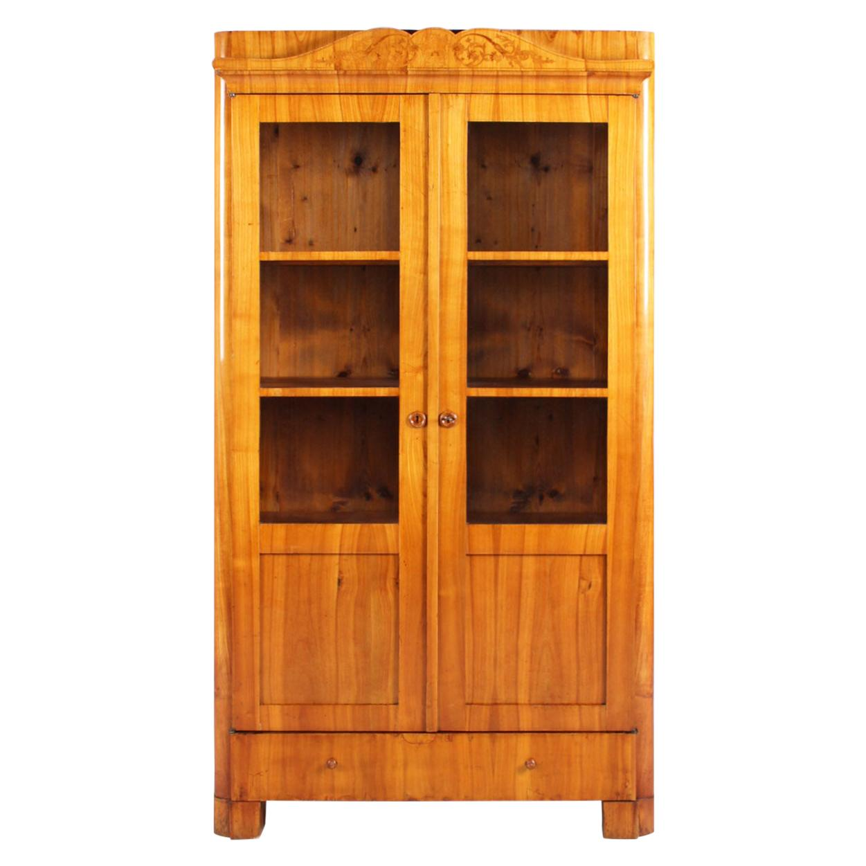 19th Century Biedermeier Bookcase, Vitrine, Cherrywood, Germany, circa 1840
