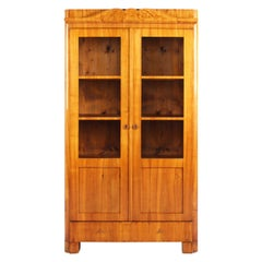 19th Century Biedermeier Bookcase, Vitrine, Cherrywood, Germany, circa 1840