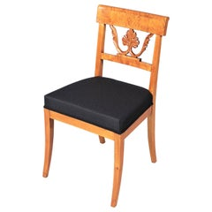 19th Century Biedermeier Chair, Birch, Northern Germany, circa 1835