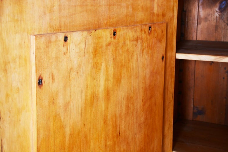 19th Century Biedermeier Cherry Pair of Wardrobes, Completely Restored, 1840s For Sale 4