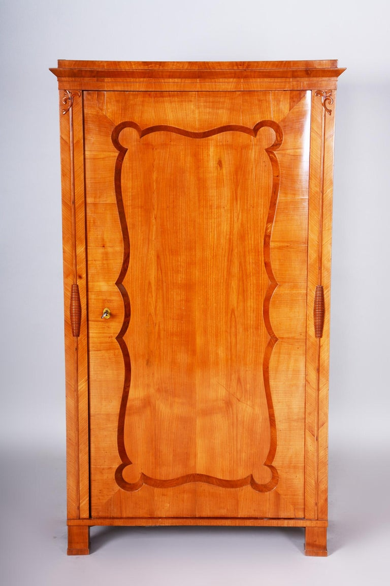 19th Century Biedermeier Cherry Pair of Wardrobes, Completely Restored, 1840s For Sale 5