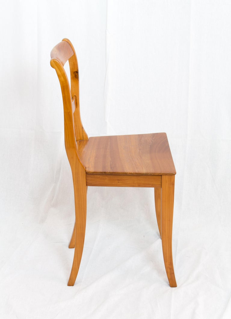 German 19th Century Biedermeier Cherrywood Chair For Sale
