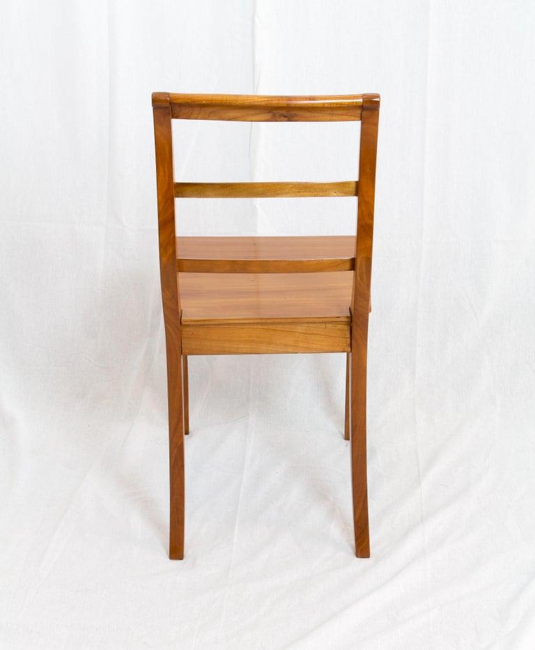 German 19th Century Biedermeier Cherrywood Chair For Sale
