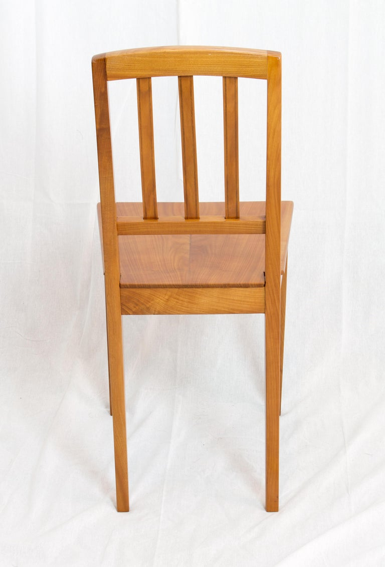 Polished 19th Century Biedermeier Cherrywood Chair For Sale