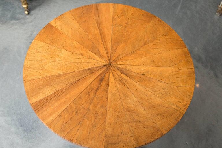 18th Century 19th Century Biedermeier Cherrywood Circular Side Table For Sale