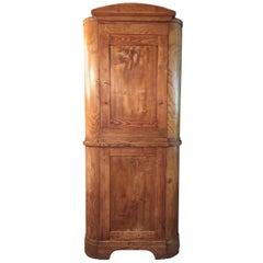 19th Century Biedermeier Corner Cupboard in Ash Very High