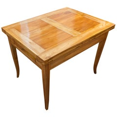 19th Century Biedermeier Dinner Table Solid Cherrywood