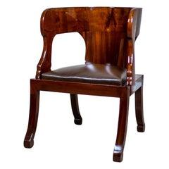 19th Century Biedermeier Mahogany Armchair