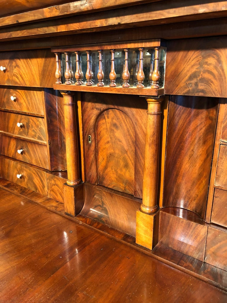 19th Century Biedermeier Mahogany Danish Conical Secretaire in Temple Shape For Sale 2