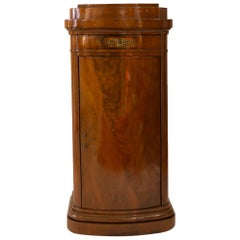 19th Century Biedermeier Mahogany Veneer Pillar Cupboard
