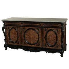 19th Century Biedermeier Marble Top Buffet