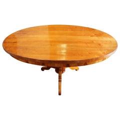 19th Century Biedermeier Oval Cherry Table