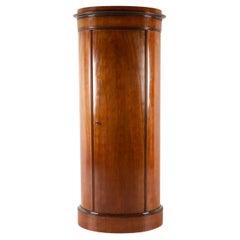 19th Century Biedermeier Pedestal Cabinet, 1850s