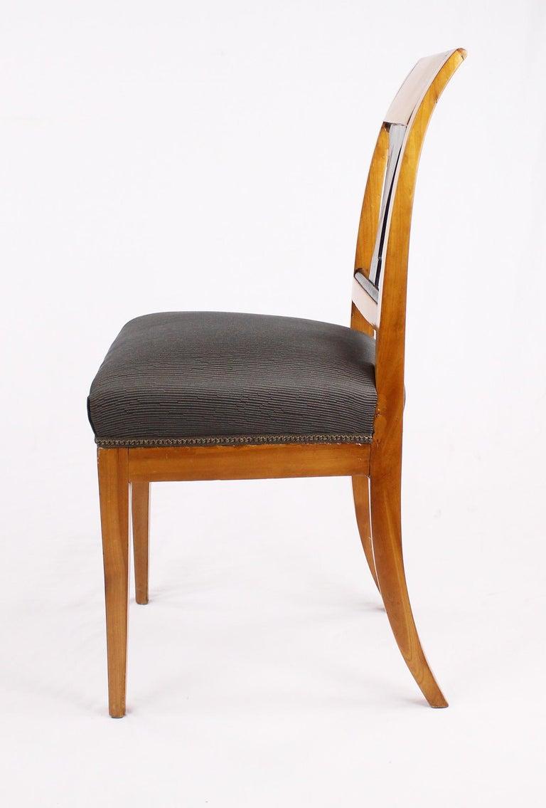 19th Century Biedermeier Period Chair, Cherrywood, circa 1820 For Sale 5