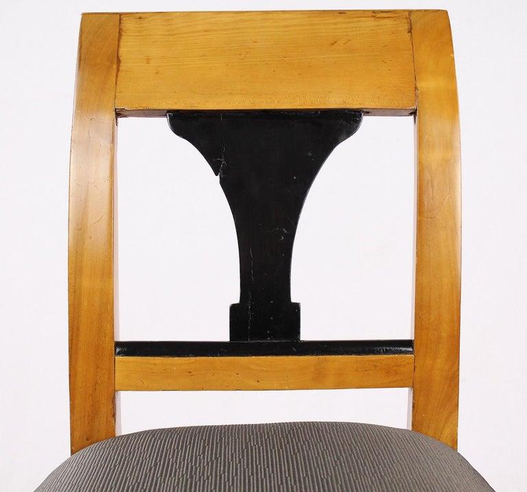 German 19th Century Biedermeier Period Chair, Cherrywood, circa 1820 For Sale