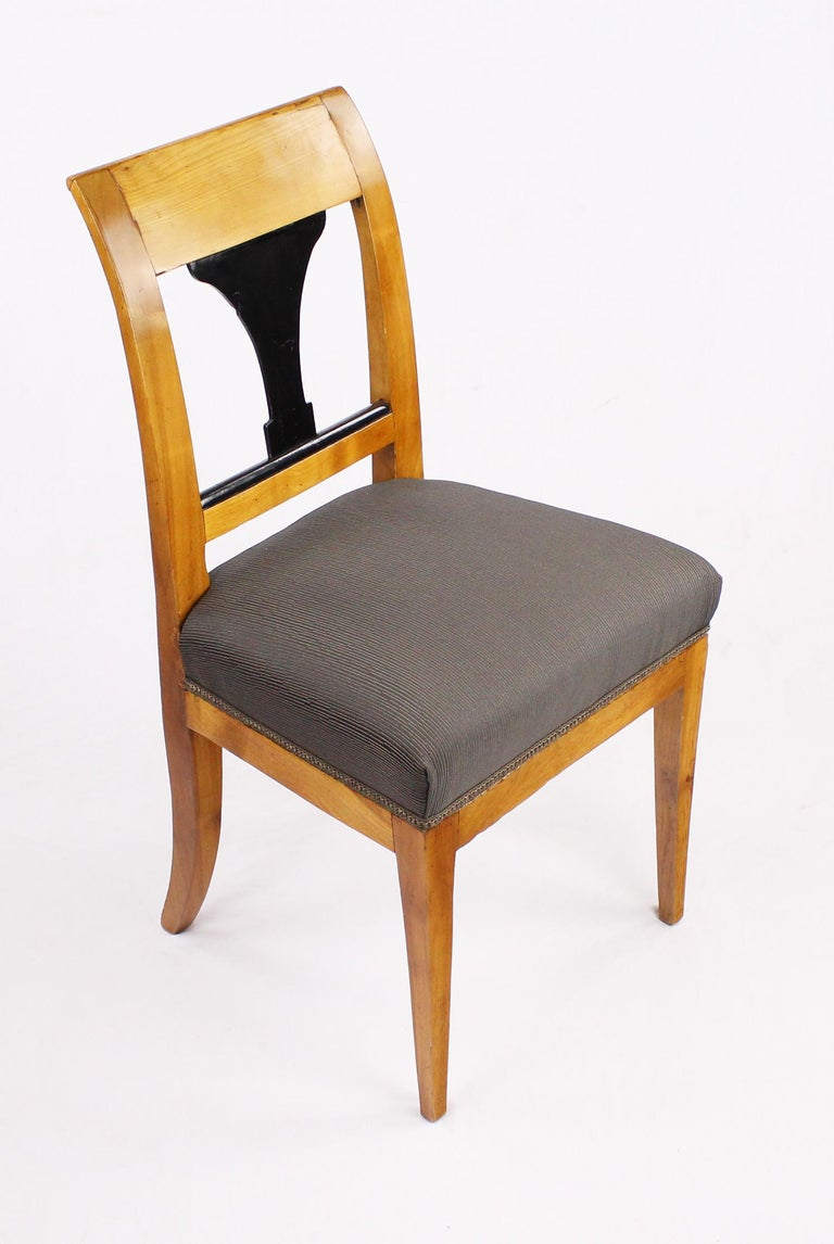 19th Century Biedermeier Period Chair, Cherrywood, circa 1820 In Good Condition For Sale In Muenster, NRW