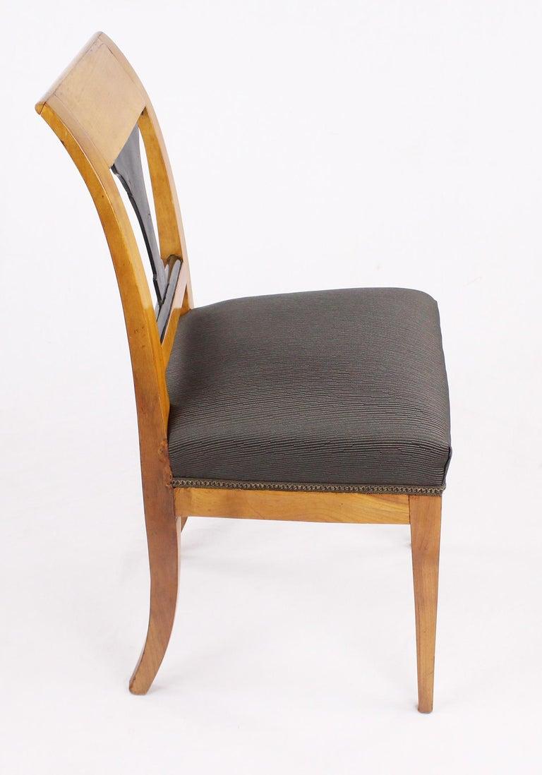 Early 19th Century 19th Century Biedermeier Period Chair, Cherrywood, circa 1820 For Sale
