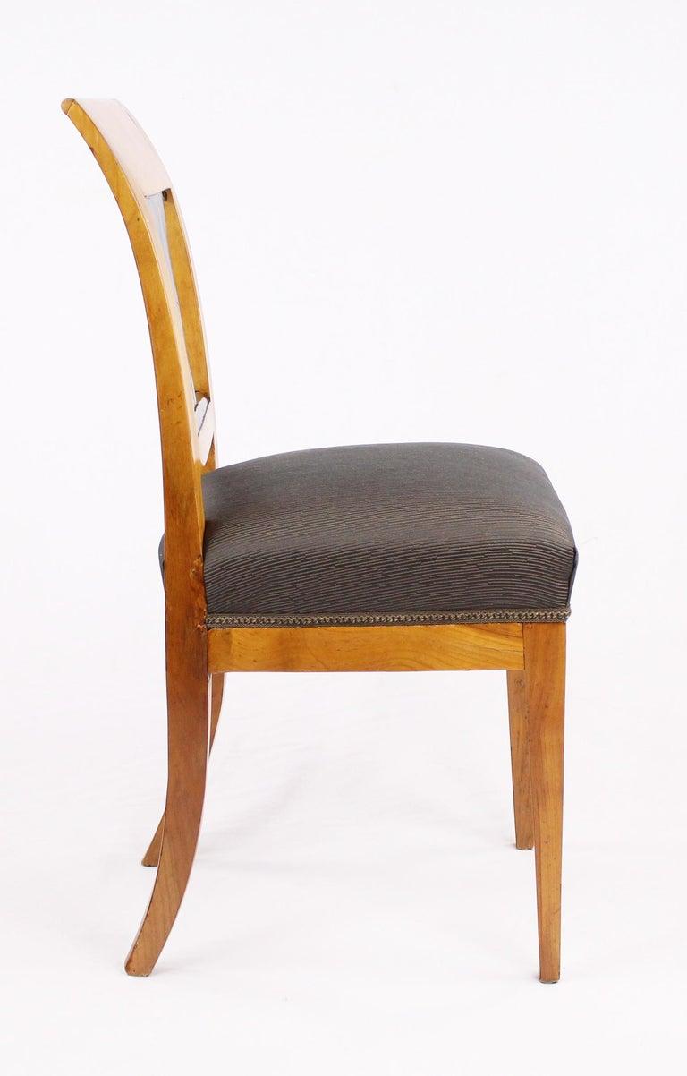 19th Century Biedermeier Period Chair, Cherrywood, circa 1820 For Sale 1