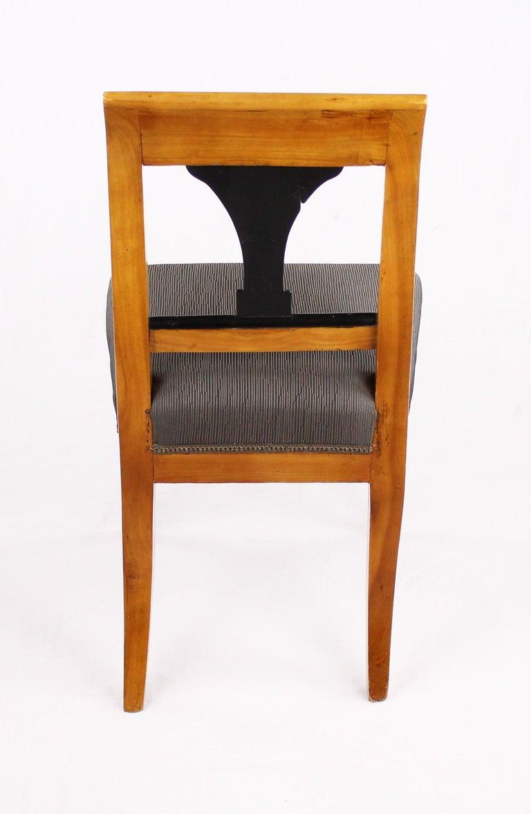 19th Century Biedermeier Period Chair, Cherrywood, circa 1820 For Sale 2