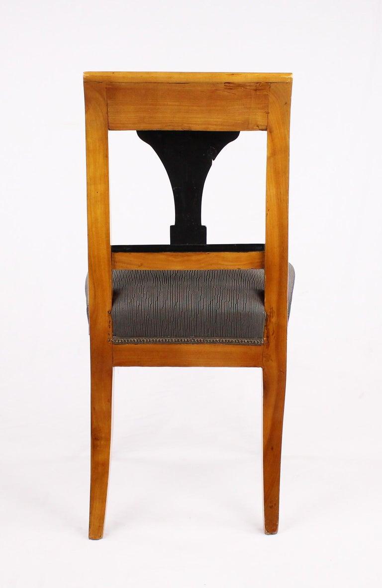 19th Century Biedermeier Period Chair, Cherrywood, circa 1820 For Sale 3