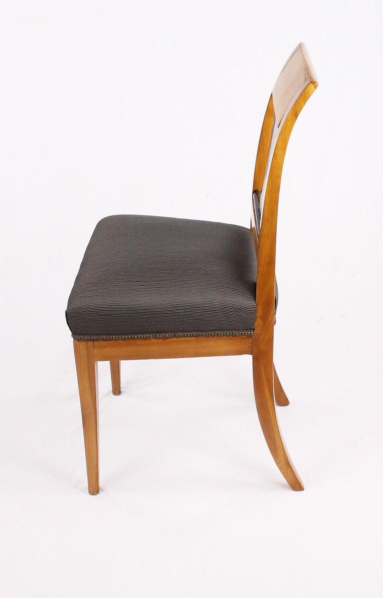 19th Century Biedermeier Period Chair, Cherrywood, circa 1820 For Sale 4