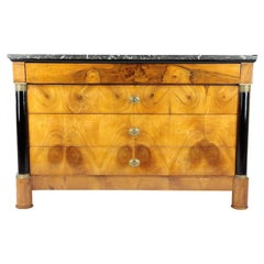 19th Century Biedermeier Period Chest of Drawers, France, Walnut, 1820, Brown