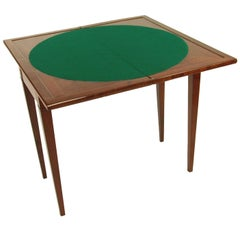 19th Century Biedermeier Period Game Table France, Mahogany, Red Brown