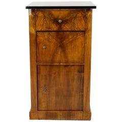 19th Century Biedermeier Period Pillar Cupboard with Drawer, Nutwood, Brown
