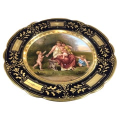 19th Century Biedermeier Porcelain Royal Vienna Hand Painted and Gilt, 1870s