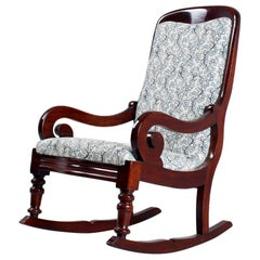 19th Century Biedermeier Rocking Chair, Mahogany, Germany, circa 1840