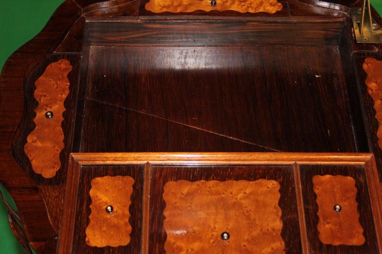 Mid-19th Century 19th Century Biedermeier Rosewood Work Table For Sale