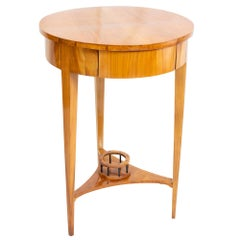 19th Century Biedermeier Round Drum Sewing Table