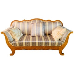 19th Century Biedermeier Sofa South Germany Cherrywood Top Condition