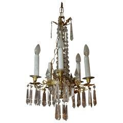 19th Century Biedermeier Style Antique Pendant Lamp Chandelier