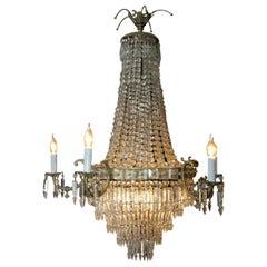 19th Century Biedermeier Style Ceiling Chandelier