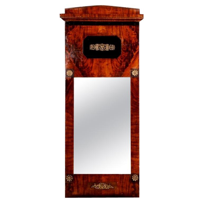 19th Century Biedermeier Style Wall Mirror
