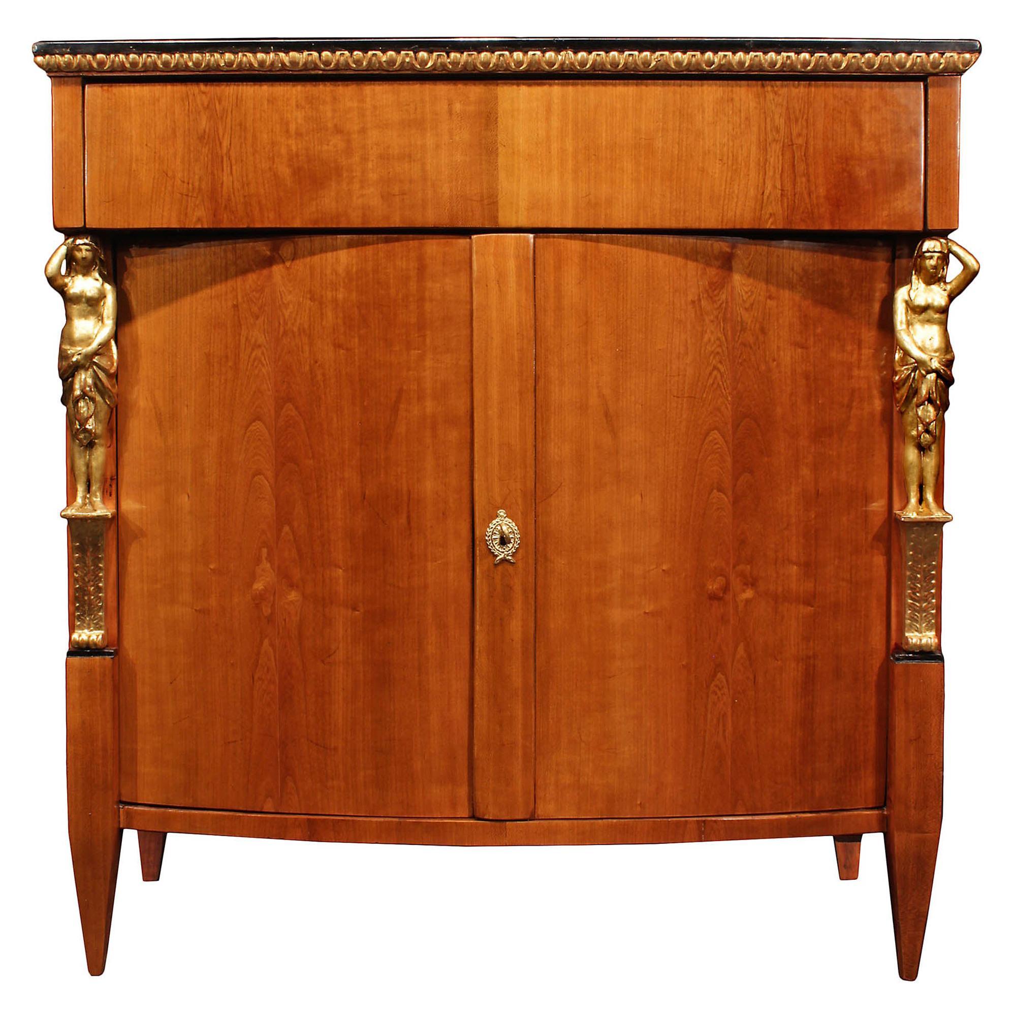 19th Century Biedermeier Two-Door Cherrywood Cabinet
